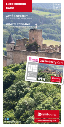 Luxembourg Card 2015 FR-NL