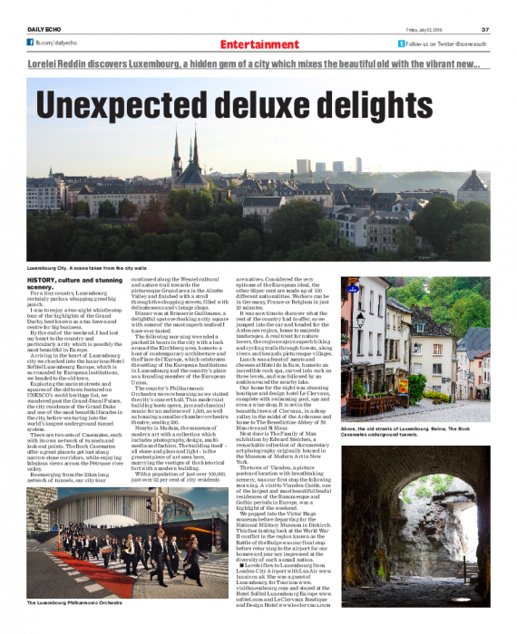 Unexpected deluxe delights - Southern Daily Echo
