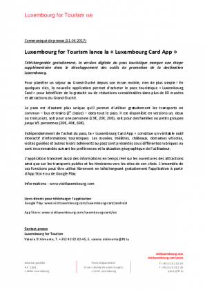 Luxembourg Card App
