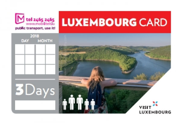 Luxembourg Card 3 days - Family (up to 5 people) © LFT