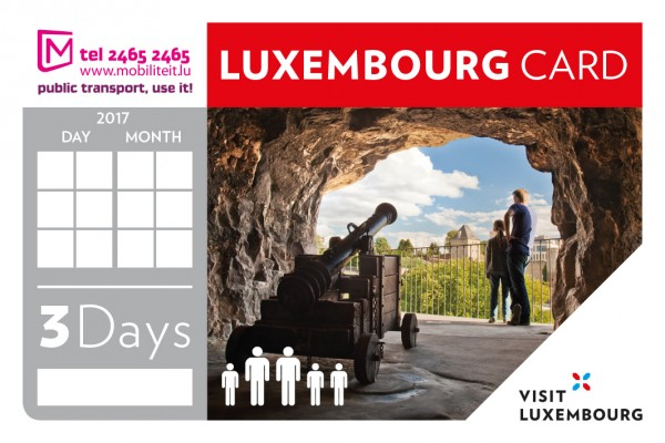 Luxembourg Card 3 Days Family 2018 © LFT